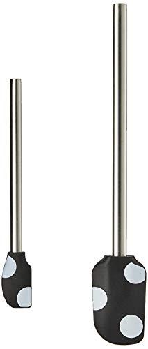 KATE SPADE Deco Dot 2-piece Utensil Set, 0.35 LB, Metallic