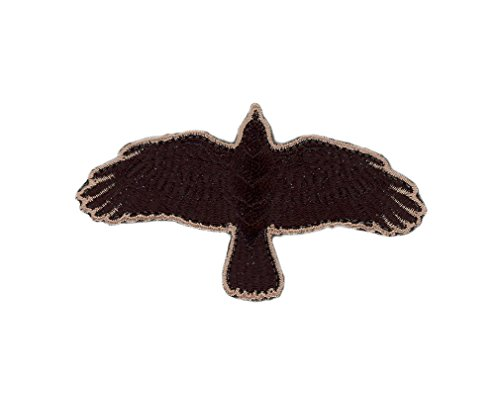 Iron on Black Odin Raven Flying Crow Vikings Patch
