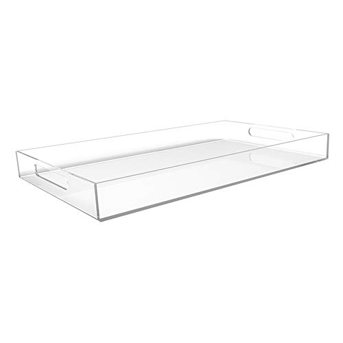 (CLEAR SERVING TRAY - Spill Proof - 20