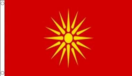 AZ FLAG Bandera de Macedonia Antigua 150x90cm - Bandera Macedonia 90 x 150 cm: Amazon.es: Jardín
