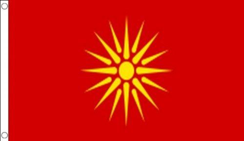 AZ FLAG Macedonia Old Flag 3' x 5' - Former Macedonian Flags 90 x 150 cm - Banner 3x5 ft