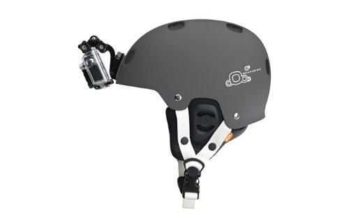gopro frontale per casco + Kit laterale, include fibbia a gancio a J, clip rapida, 3m adesivi. Compatibile con Gopro Hero 8, 7, 6, 5, 4, 3, 2, session, Apeman, Crosstour, Victure, akaso, campark 5 spesavip