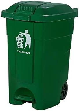 HeWHui 、ペダルタイプのキッチン屋外のゴミ箱はモール大容量ゴミ箱ガーデン・ことができ、車輪付きゴミ箱は缶プラスチック製のゴミ箱を厚くすることができ 古紙バスケット (Size : 80L)