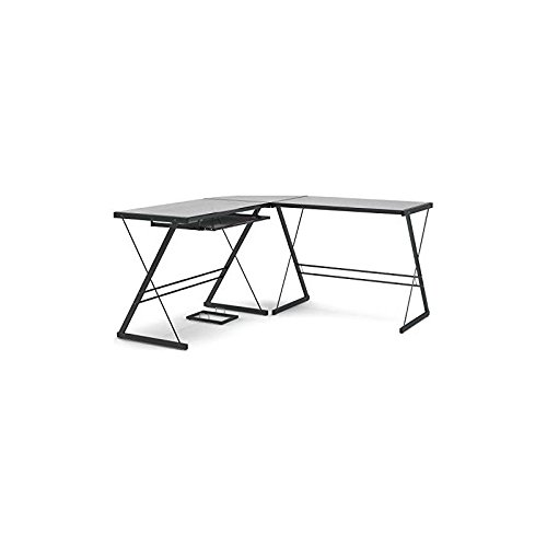 (Gibson Living Madison L-Shaped Computer Desk in Black)