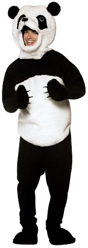 Rasta Imposta Panda Costume, Black/White, One Size - Panda Costume Men