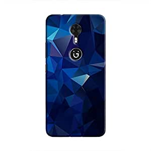 Cover It Up - Dark Blue Pixel Triangles Gionee A1 Hard Case