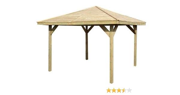 Pérgola de madera con un diseño de cenador para el jardín o para ...