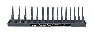 Drive Metric Socket Holder - Hanson Global FBA_HNE3802 EMW2232908, Gray|Grey