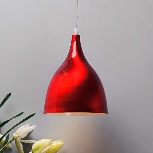 Homesake® Glossy Spining Top Hanging Pendant Lamp, Ceiling Light (Red, Spining)