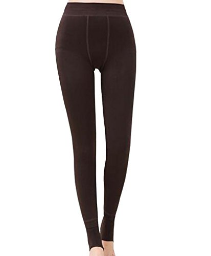 Romastory Winter Warm Women Velvet Elastic Leggings Pants ()