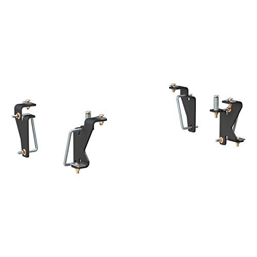 CURT 16420 Black 5th Wheel Hitch Installation Brackets for Select Dodge Ram 1500, 2500, 3500