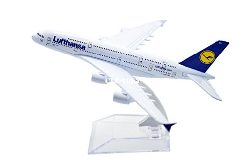 Tang Dynasty Tm  1 400 16Cm Air Bus A380 Lufthansa Airlines Metal Airplane Model Plane Toy Plane Model