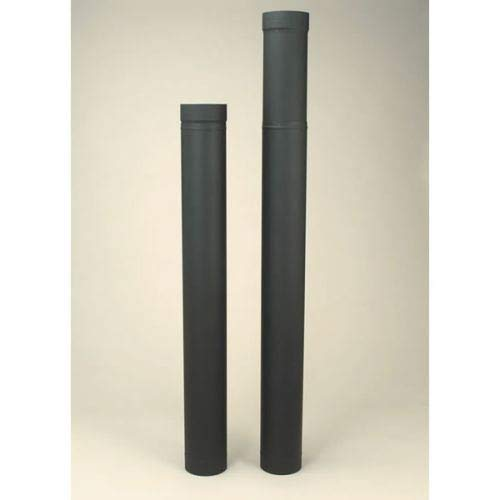 Copperfield 21135 6 x 38 Inch-70 Inch Adjustable Length Heat-fab 22-ga Welded Black Stovepipe ()