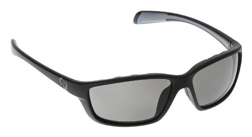 Native Eyewear Kodiak Polarized Sunglasses, Gray, Matte Black/Gloss Black (Mens Side Boots Stripe)