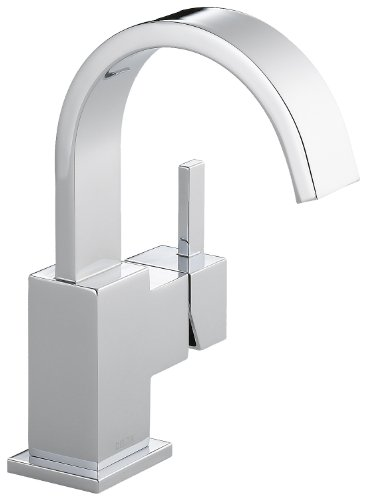 Delta Faucet Vero Single-Handle Bathroom Faucet with Metal Drain Assembly, Chrome 553LF