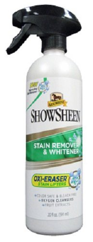 Absorbine 20 fl oz Showsheen Stain Remover & Whitener Oxi-Eraser Stain Lifters Color Safe Bleach Free Fast Acting Spot Remover