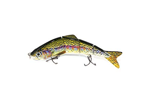 Thomify Hard Multi-Jointed Fishing Lure Swimbait Topwater Crankbait for Bass Trout Musky Pike 4.7''/0.67 oz (Z03-03)