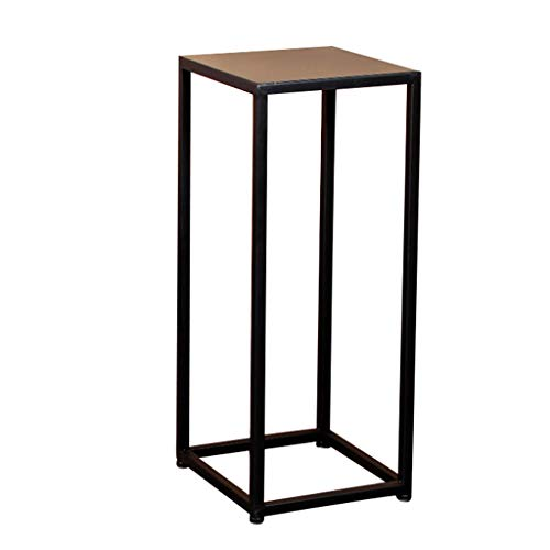 CSQ Iron Flower Stand, Shelf Black Indoor Floor Living Room Bedroom Office Study Flower Pot Decoration Multifunction (Size : 252560cm) by Flowers and friends