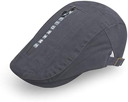 野球帽 キャスケット メンズ 鳥打帽 ゴルフ コットン 日よけ 防風 調整可能 ハンチング 55-61cm LWQJP (Color : Navy blue, Size : M)