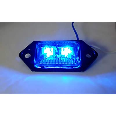 Kaper II Auxiliary Light 2-Diode, Blue, Clear Lens, Diamond Base, 2 Bare WireLens Color:Clear Tested Voltage:12.8 Volts Material:PMMA LensABS Housing: Automotive