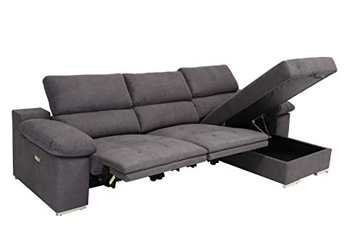 Amazon.com: Blackjack Furniture 7306-GRAY-PWR-RAF Valencia ...