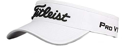 Titleist Tour Performance Staff Collection Golf Visor 2018 White/Black One Size Fits All