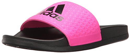 Black Softball Slides (adidas Performance Unisex-Kids Adilette Clf+ K Sport Sandal, Core Black, Shock Pink s, Shock Pink s, 5 M US Big Kid)