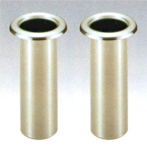 お墓用花立 高級ステンレス製 中入れ式 ツバなし 筒径:73mm リング下深さ:200mm 1対2本セット [S-74] B007MW08J2
