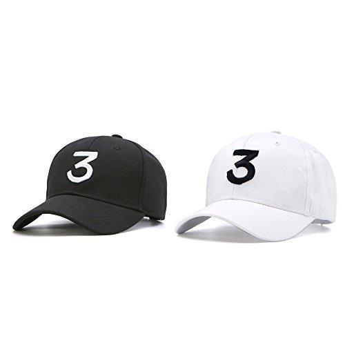 7079c1383 IVYRISE Embroider Chance Baseball Caps Hats Cool Baseball Rapper Number 3  Caps, Rock Hip Hop Classic Casquette with Adjustable Strap, Cotton  Sunbonnet ...