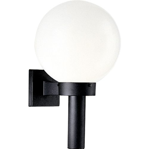 Porcelain Brass Sconce (Progress Lighting P5636-60 Cast Wall Torch, Black)