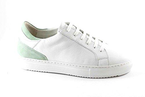Zapatilla Zapatos Mujer GRUNLAND Verde SC3297 Blancos Bianco Gi Encaje de wPxq6Z