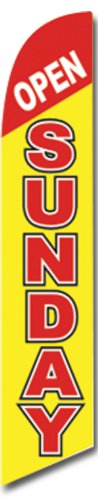 Open Sunday Swooper Feather Banner Flag Sign