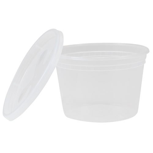 TRiPAK TD40016 Plastic Deli Container with Lid, 16 oz. (Pack of 240)