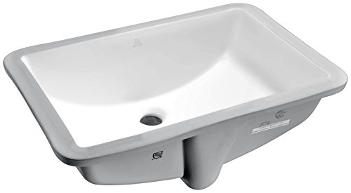 (ANZZI Pegasus 21 in Polished White Ceramic rectangular Undermount Sink Basin | Overflow Built in Porcelain Bowl Bathroom Vessel Lavatory Sink Counter Top | cUPC & CSA Certified | LS-AZ107)