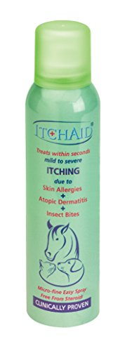 ItchAid 150ml -Micro-fine Spray for Instant Treatment of Mild to Severe Itch Due to Atopic Dermatitis, Skin Allergies, Insect Bites, Heat Rash in Dogs, Horses, Cats & Sweet Itch in Equine. 1