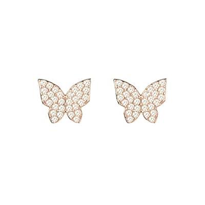 Pendientes de Mariposas con Cristales