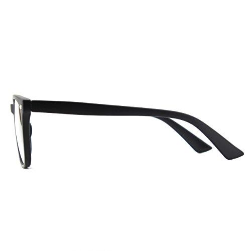 surdimensionné Grand Black corne transparentes Matte PE2 GQUEEN clair cadre lunettes qZdqwEz