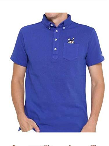 ジャックバニー ドラえもん コラボ ポロシャツ メンズサイズ4 ブルー パーリーゲイツ ゴルフ   B07K5N9F78