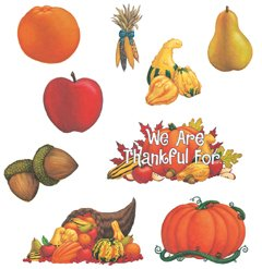Instructional Fair Thanksgiving Bulletin Board Set - Set of 25