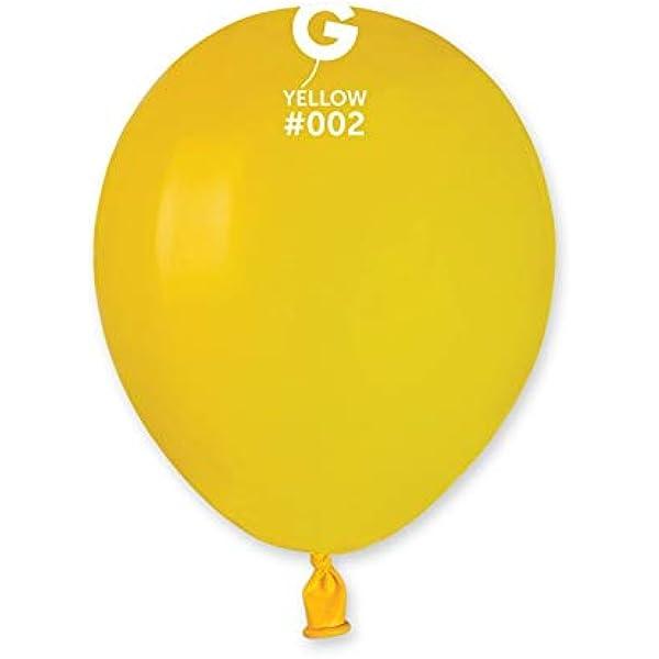 Gemar - Globos de látex, de color amarillo, para fiestas, 100 unidades: Amazon.es: Juguetes y juegos