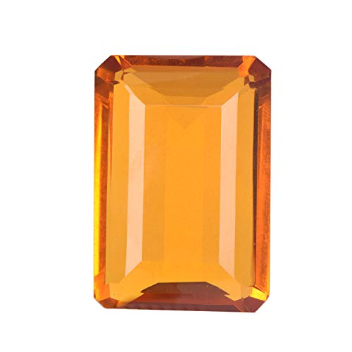 Citrine 116.50 Ct Emerald Cut Yellow Citrine, Jewelry Making Brazilian Citrine Gemstone for Pendant