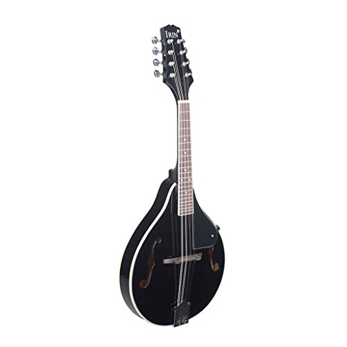 Jili Online Acoustic Electric Mandolin+Soft Mandolin Bag+Silver Plated Strings for Musical Performance by Jili Online
