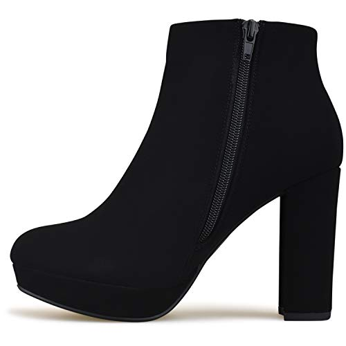 Low Buckle Heel Boot Bootie Casual Standard Strappy Walking Premier Women's Toe Closed D Black Comfortable tnq0nf8p