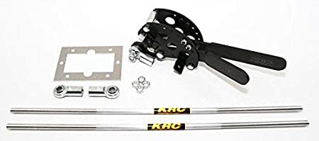 and Mounting Plate Kluhsman Racing Products KRC-7401R Red Brinn Shifter with Rod Heims