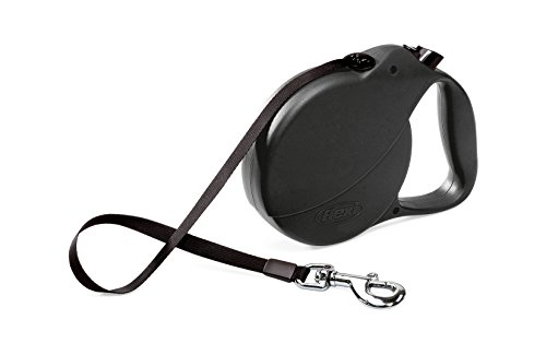 Flexi Explore Retractable Belt Dog Leash , Large, 26-Feet Long, Supports up to 110-Pound, Black