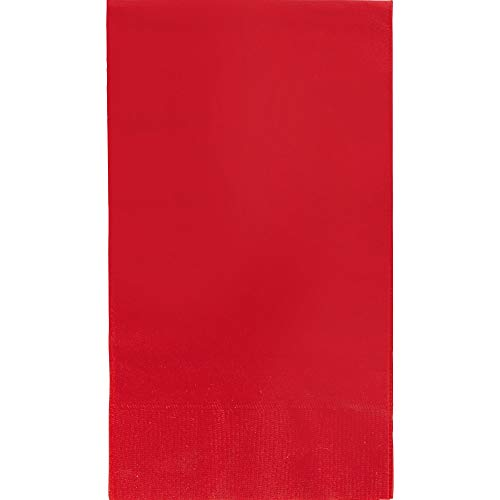 Apple Red 2-Ply Guest Towel Big Party Pack, 40 Ct. | Accessory