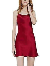 uxcell® Big Full Slip Sleepwear Lotus Leaf Hem Basic Dress Camisole