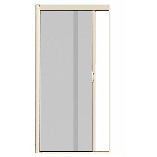 VISISCREEN VS1 Retractable Screen Door 44 inch x 84 inch Almond Single Panel ()