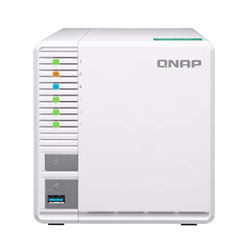 QNAP TS-328-US QNAP 3-Bay Personal Cloud NAS, Ideal for RAID5 Storage. ARM Quad-core 1.4GHz, 2GB DDR4 RAM, 2 x Gigabit LAN, 2.5