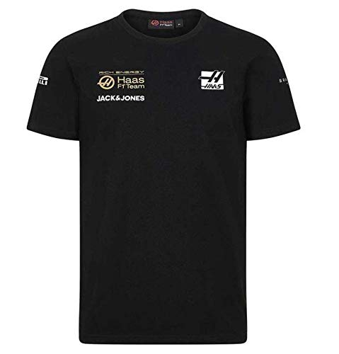 Rich Energy Haas 2019 F1 Team T-Shirt Black (L) for sale  Delivered anywhere in USA